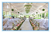 Beautiful tent linings and curtains for party decoration