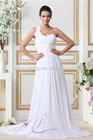 HT2017 Sexy one shoulder long chiffon flowy beach bridesmaids dresses patterns for bridesmaids dresses with sleeves