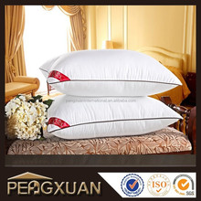 wholesale luxury adult 186T 200T 233T polyester filling white hotel pillow
