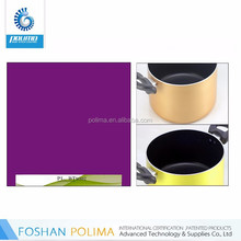 exterior colorful decorative scratch resistance resin coating for cookware