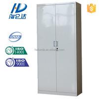 Priced grey double door steel cabinet/ file lock utility locker