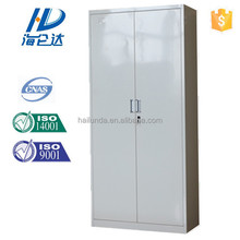 Priced grey double door steel cabinet/ file lock utility locker