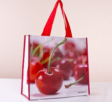 OEM welcome 3000pcs MOQ Bopp laminated pp woven shopping bag