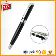 Factory outlet competitive price metal clip pens with golden cap executive gift pen promotional roller ball pens