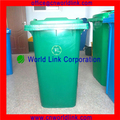 Volumen grande de plástico 360L contenedores de residuos plásticos