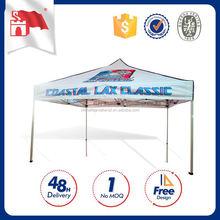 Customized Logo Steel Frame Pop Up Tent Beach
