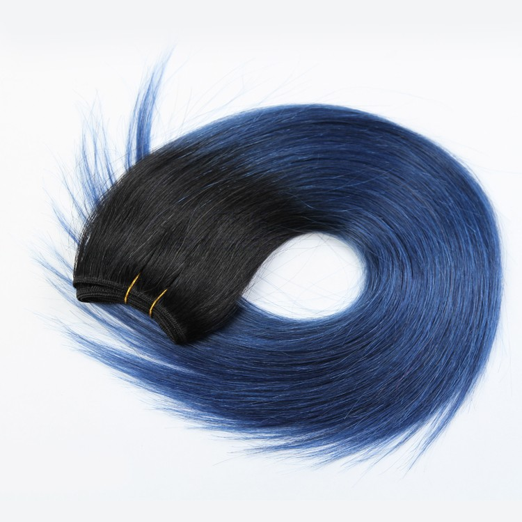 Wholesale Price Straight Dark Blue Color Hair Weave Fast Shipping