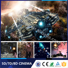 Real Feeling Theme Park Big Gun Shooting 5D 7D 9D 12D Stimulator Theater With Cabin