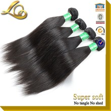 The Top Quality Mongolia Human Hair Nature Black Color Silk Straight