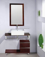 100cm Classic Simple solid wood floating bathroom cabinet