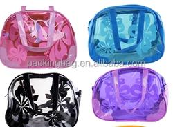 (Ladies ) PVC cosmetic bag & PVC beach bag & waterproof bag with handle
