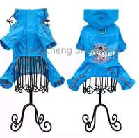 High quality pet raincoat hot sale dog raincoat fashion blue rain coat pet waterproof comfortable raincoat for small dog