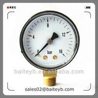 "50mm(2.0"")ABS plastic case bottom connection air pressure gauge meter"