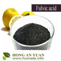 High Water Soluble Fulvic Acid Flake / Powder Organic Fertilizer / Humic Acid Fertilizer