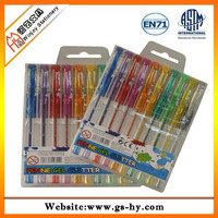 Cheap glitter gel pen set for promotional