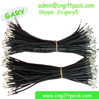 1.5mm polyester black elastic cord with metal barb end