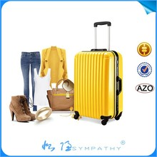 Hot sell ABS luggage with spinner hard shell luggage
