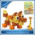 animais do jardim zoológico de brinquedo de plástico