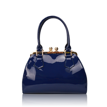 Women Fashion Solid Candy Colors Simple PU Leather Handbag, Big Shoulder Bags, Solid Totes