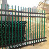 2 rails/3 rails black powder coated high security spear top steel fence (china factory)