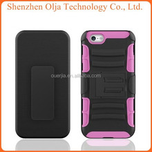 2015 silicone PC Belt Cover For IPhone 6 Case Heavy Duty, For iphone 6 Case Cover, For IPhone 6 Case Custom