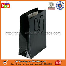Fashion black paper bags for promotion