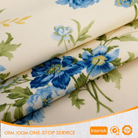 Floral printed thick canvas fabric for bags cushion curtain sofa