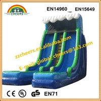 2015 wet dry commercial inflatable water slide slip n slide,giant inflat slide for kids and adult