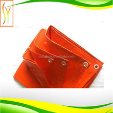 cold-resistant ,waterproof good quality orange color outside road cover tarps,garden cover ,grass cover pe woven fabric