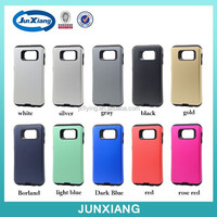 Mobile phone cover 2 in 1 pc tpu plastic slim armor skin colorful phone case for Samsung S6