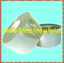 Self adhesive 12 microns transparent polyester PET film for printing with clear backing