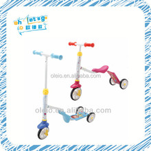 Hot sale 2 in 1 model pedal fly assemble hot three wheels cheap iron scooter car