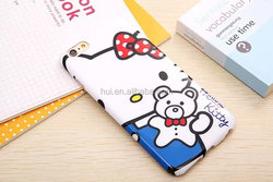 Trendy 3D Cute Hello kitty Cartoon Silicone Soft Case For iPhone 6 6plus