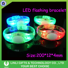 Battery Controlled TPU Flashing Cheering LED Bracelet