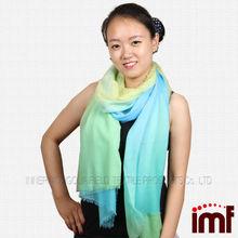2014 nueva llegada soluble en agua de lana 100% bufanda bufanda de lana bufanda de las mujeres