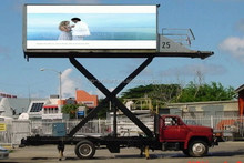 2 sides mobile truck advertising led board for outdoor usage