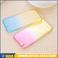 Transparent flexible TPU color change back cover for iphone 5c