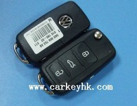 New product &Direct factory NEW VW remote flip Key (3button) 434MHz 5K0 837 202AD for Key Programmer For Audi1