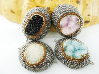 CH-LSB0857 New design crystal connectors with druzy ,rhinestone connector beads,wholesale druzy jewelry for sale