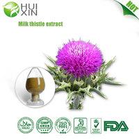 competitive price milk thistle extract, 80% Silymarin,30% Silibinin flavolignans (silymarin), tyramine, histamine