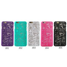 New Design Hard PC Henna Hollow Out Tribal Flower Cases For iPhone 6 6 Plus