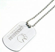 2015 cheap green dog pet/ personalized stainless steel dog tag/ custom engraved dog tag with ball chain