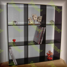 Acrylic library plastic book display rack