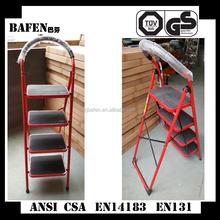 2015 New EN131 certificated 4 step folding steel step stool 330lbs