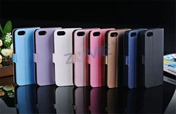 China Alibaba Mobile Phone Wallet Case For Iphone5/5C/5S Pu Leather Case Flip Cover + Screen Protector Skin