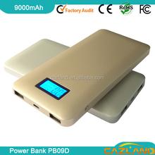 PB09D 2015 Hot sell 9000mah japan battery cells power bank charger p
