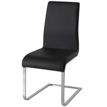Modern black PU leather dining room chair hotel luxury dining chair