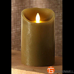 Moving Flame Sage Candle Battery Operated with Timer - Remote Ready