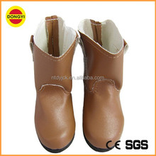 Brown colour small doll shoes boot shoes american girl doll high heel shoes