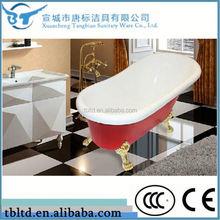 italia acrilico freestanding clawfoot vasca vasca da bagno piccolo